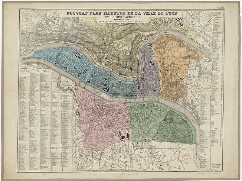 Plan de Lyon en 1872