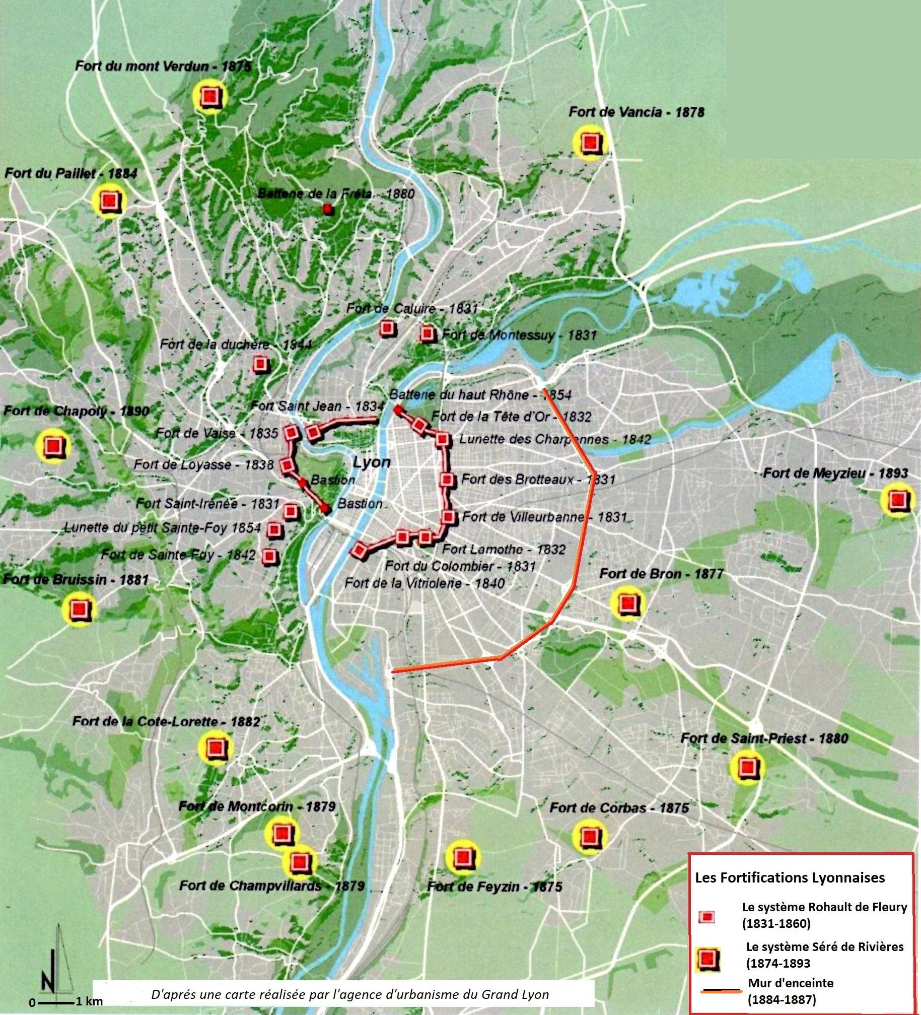 Les Fortifications Lyonnaises 1831 A 1893 Association Du Fort De Bron