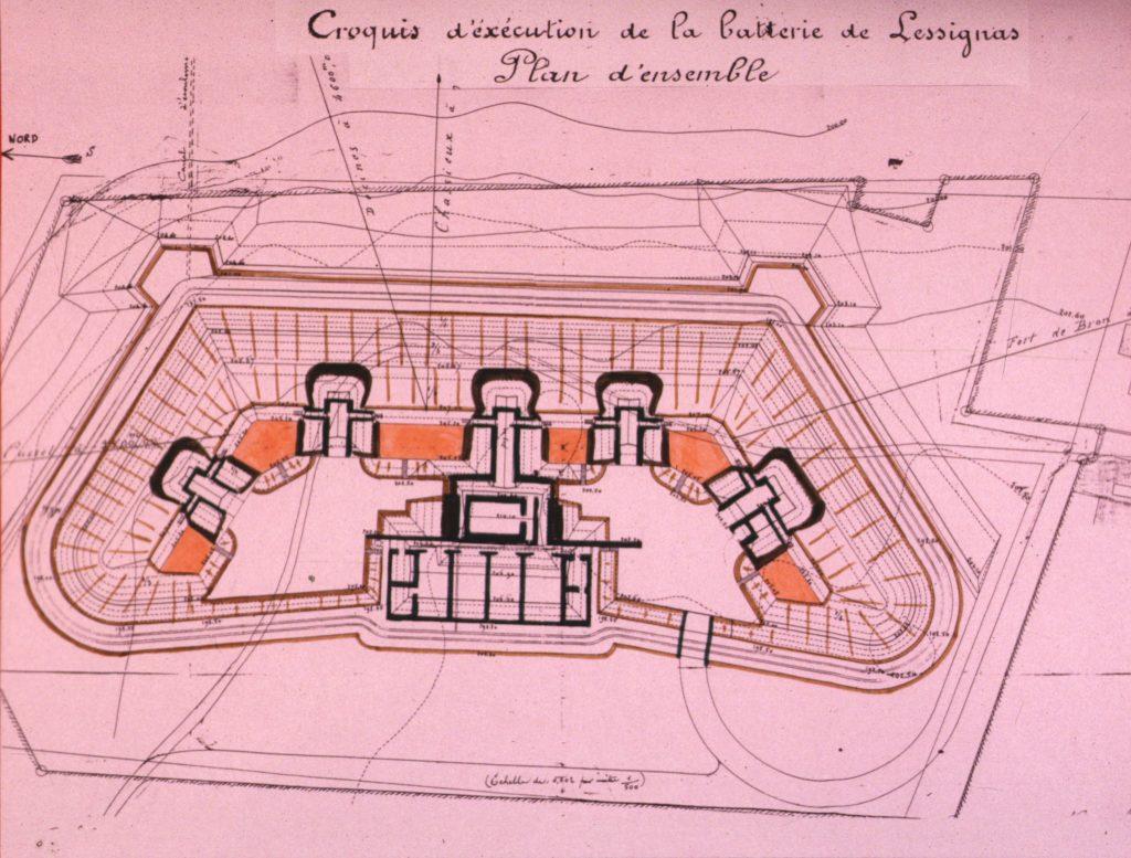 Plan de la batterie de Lessivas.