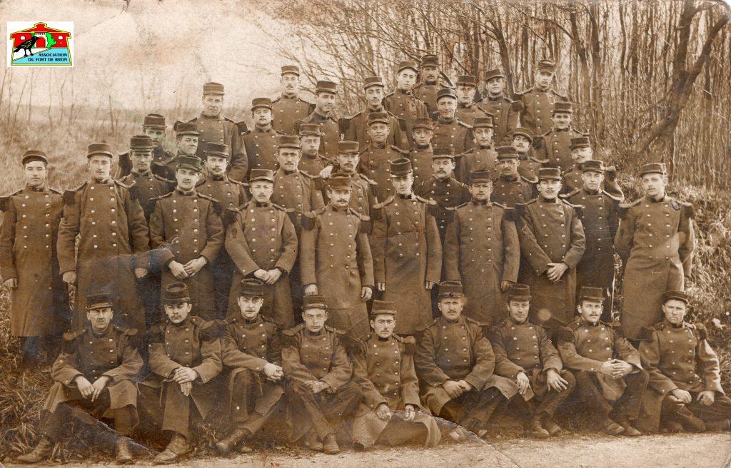 Carte postale d'un sapeur au Fort de Bron en novembre 1912